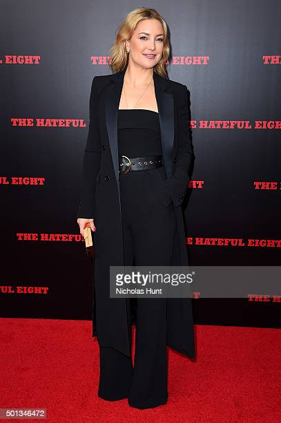 Actress Kate Hudson attends the New York premiere of 'The Hateful Eight' on December 14 2015 in New York City
