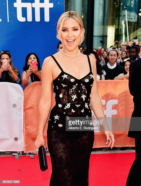 Actress Kate Hudson attends the premiere of 'Deepwater Horizon' as part of the Toronto International Film Festival at Roy Thomson Hall on September...