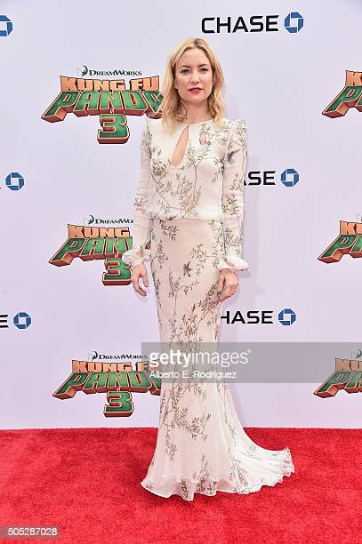 Actress Kate Hudson attends the premiere of DreamWorks Animation and Twentieth Century Fox's 'Kung Fu Panda 3' at TCL Chinese Theatre on January 16...