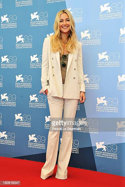 Actress Kate Hudson attends 'The Reluctant Fundamentalist' Photocall during the 69th Venice International Film Festival at Palazzo del Casino on...