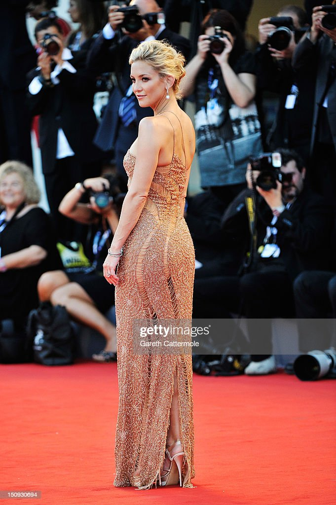 Actress Kate Hudson attends 'The Reluctant Fundamentalist' Premiere And Opening Ceremony during the 69th Venice International Film Festival at...