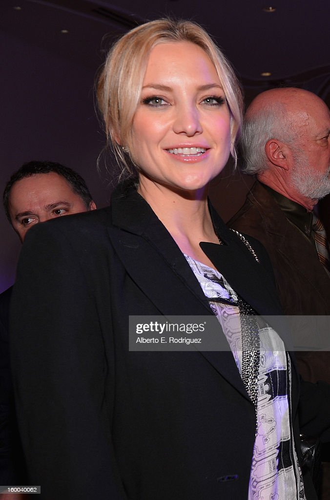 Actress <a gi-track='captionPersonalityLinkClicked' href=/galleries/search?phrase=Kate+Hudson&family=editorial&specificpeople=156407 ng-click='$event.stopPropagation()'>Kate Hudson</a> attends The Voice Health Institute's 'Raise Your Voice' benefit at the Beverly Hills Hotel on January 24, 2013 in Beverly Hills, California.