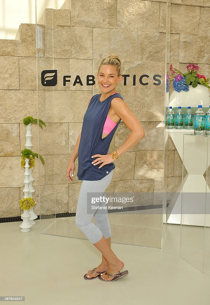 Actress Kate Hudson celebrates the Fabletics Spring Collection on May 1, 2014 in Los Angeles, California.