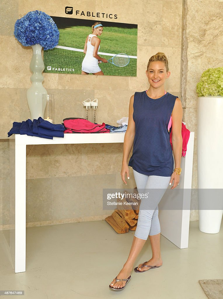 Actress <a gi-track='captionPersonalityLinkClicked' href=/galleries/search?phrase=Kate+Hudson&family=editorial&specificpeople=156407 ng-click='$event.stopPropagation()'>Kate Hudson</a> celebrates the Fabletics Spring Collection on May 1, 2014 in Los Angeles, California.