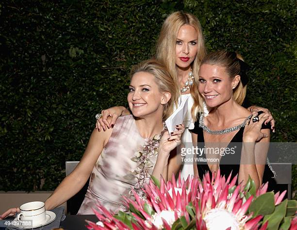 Actress Kate Hudson fashion designer Rachel Zoe and actress Gwyneth Paltrow attend the InStyle Awards at Getty Center on October 26 2015 in Los...