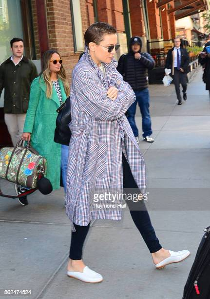 Actress Kate Hudson is seen walking in Soho on October 17 2017 in New York City