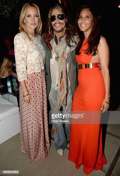 Actress Kate Hudson musician Steven Tyler and owner/designer of Chrome Hearts Laurie Lynn Stark attend Chrome Hearts Kate Hudson Host Garden Party To...