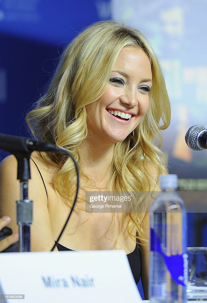 Actress Kate Hudson speaks onstage at 'The Reluctant Fundamentalist' Press Conference during the 2012 Toronto International Film Festival at TIFF...