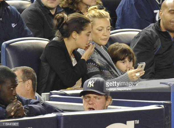 Actress Kate Hudson watches the New York Yankees play at Yankee Stadium on September 26 2009 in New York City