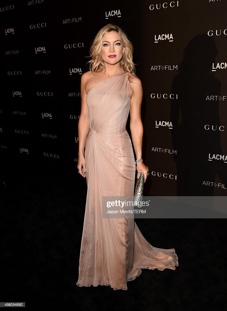 Actress Kate Hudson wearing Gucci attends the 2014 LACMA Art Film Gala honoring Barbara Kruger and Quentin Tarantino presented by Gucci at LACMA on...