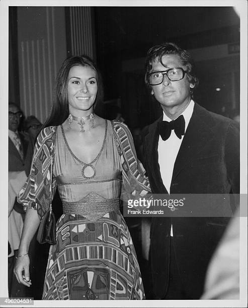 Actress Kate Jackson with Bob Evans attending the American Film Institute dinner for John Ford Beverly Hills Hilton California April 1973