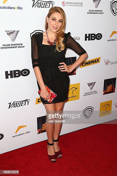 Actress Kate Jenkinson arrives at the Australians in film benefit dinner at InterContinental Hotel on October 24 2013 in Century City California