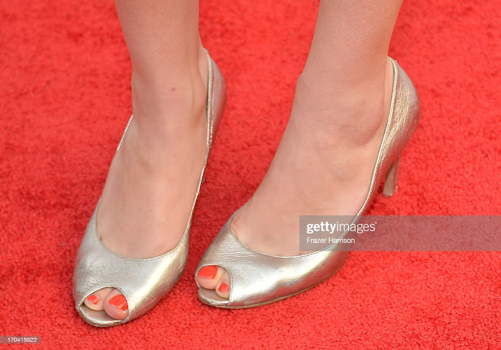 Actress Kate Jenkinson (shoe detail) attends the Australians In Film and Heath Ledger Scholarship Host 5th Anniversary Benefit Dinner on June 12, 2013 in Los Angeles, California.