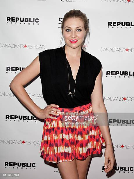 Actress Kate Jenkinson attends the Canada Day party in LA on the Sunset Strip on July 1 2014 in West Hollywood California