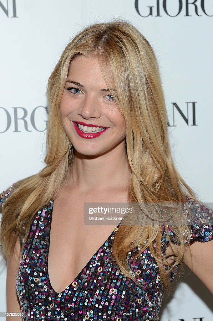 Actress Kate Lang Johnson, wearing Emporio Armani attends the Giorgio Armani Beauty Luncheon on December 6, 2012 in Beverly Hills, California.