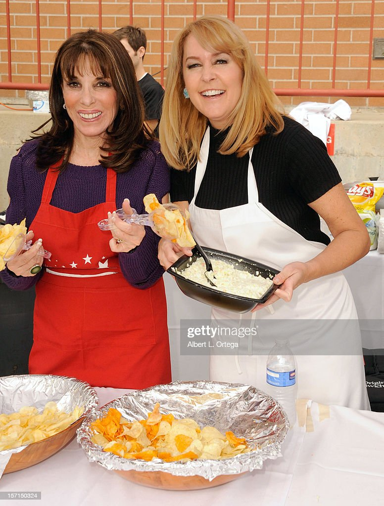 Actress Kate Linder ad actress Erin Murphy participate in the Hollywood Chamber of Commerce's annual police and firefighters appreciation day at the Hollywood LAPD station on November 28, 2012 in Hollywood, California.