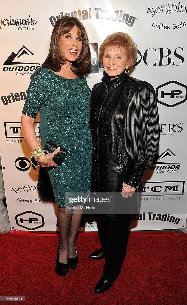 Actress <a gi-track='captionPersonalityLinkClicked' href=/galleries/search?phrase=Kate+Linder&family=editorial&specificpeople=213145 ng-click='$event.stopPropagation()'>Kate Linder</a> and Molly Wolbeck attends the 2nd annual Borgnine Movie Star Gala honoring actor Joe Mantegna at the Sportman's Lodge on February 1, 2014 in Studio City, California.