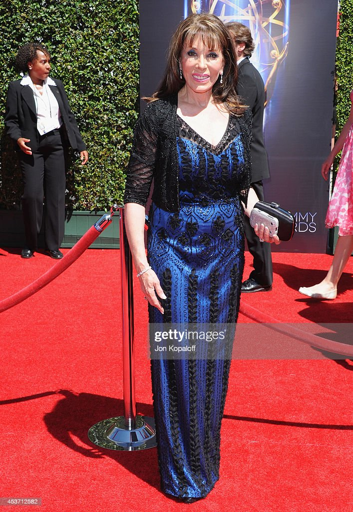 Actress Kate Linder arrives at the 2014 Creative Arts Emmy Awards at Nokia Theatre LA Live on August 16 2014 in Los Angeles California