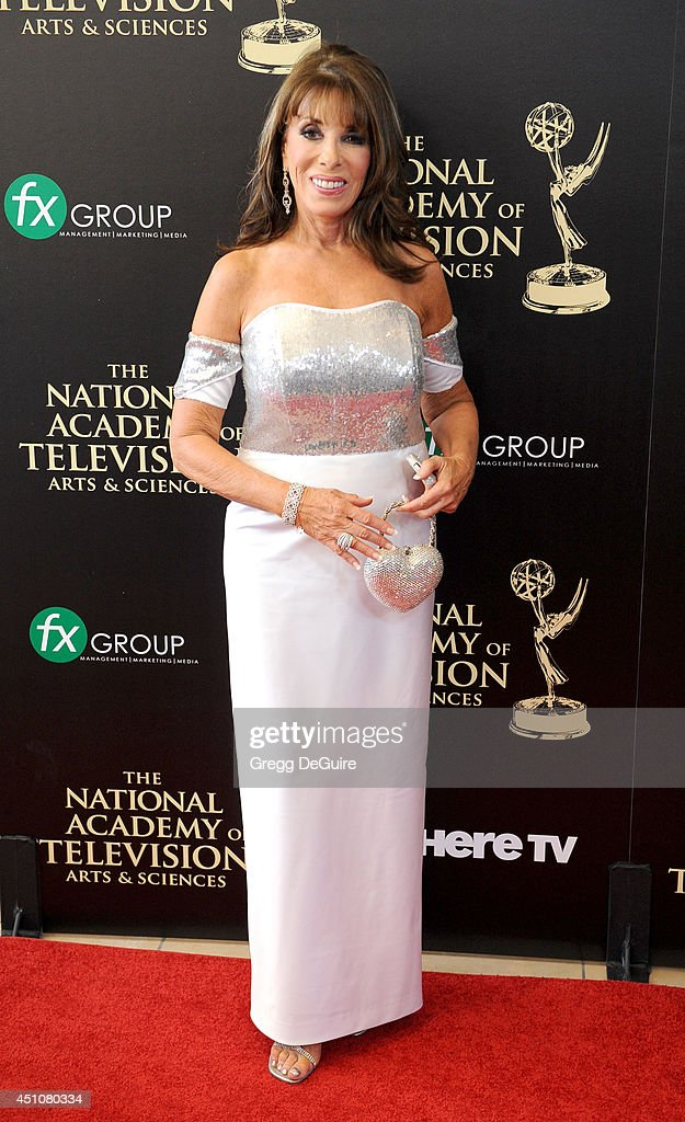 Actress Kate Linder arrives at the 41st Annual Daytime Emmy Awards at The Beverly Hilton Hotel on June 22 2014 in Beverly Hills California