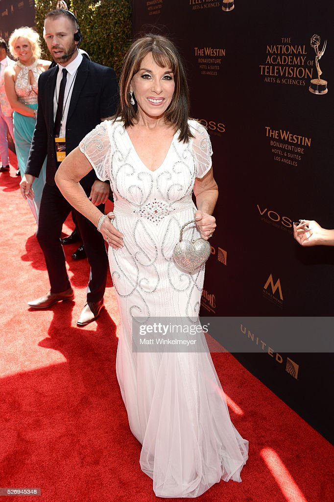 Actress Kate Linder arrives at the 43rd Annual Daytime Emmy Awards at the Westin Bonaventure Hotel on May 1, 2016 in Los Angeles, California.