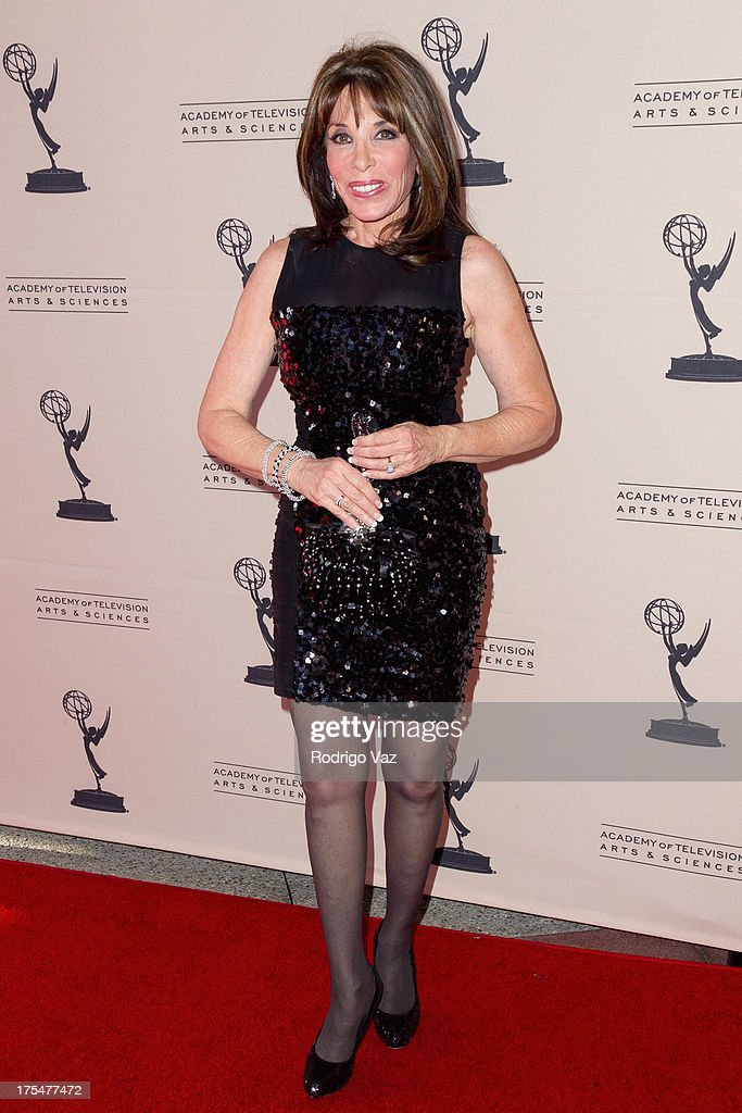 Actress <a gi-track='captionPersonalityLinkClicked' href=/galleries/search?phrase=Kate+Linder&family=editorial&specificpeople=213145 ng-click='$event.stopPropagation()'>Kate Linder</a> arrives at the Academy of Television Arts & Sciences 65th Los Angeles Area Emmy Awards at Leonard H. Goldenson Theatre on August 3, 2013 in North Hollywood, California.