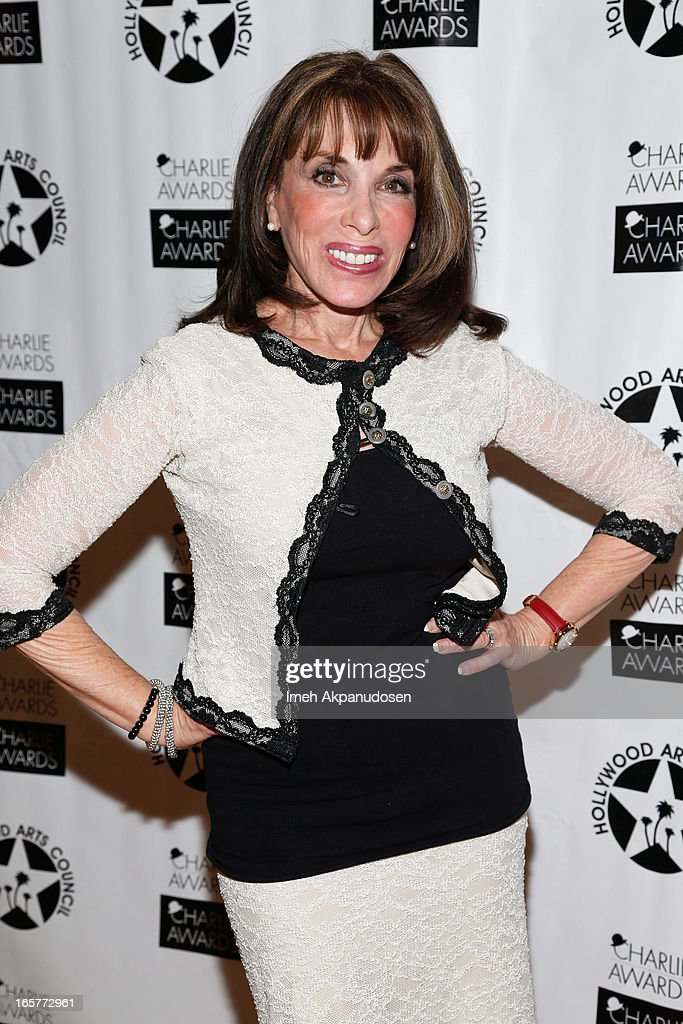 Actress <a gi-track='captionPersonalityLinkClicked' href=/galleries/search?phrase=Kate+Linder&family=editorial&specificpeople=213145 ng-click='$event.stopPropagation()'>Kate Linder</a> attends Hollywood Arts Council's 27th Annual Charlie Awards Luncheon at Hollywood Roosevelt Hotel on April 5, 2013 in Hollywood, California.