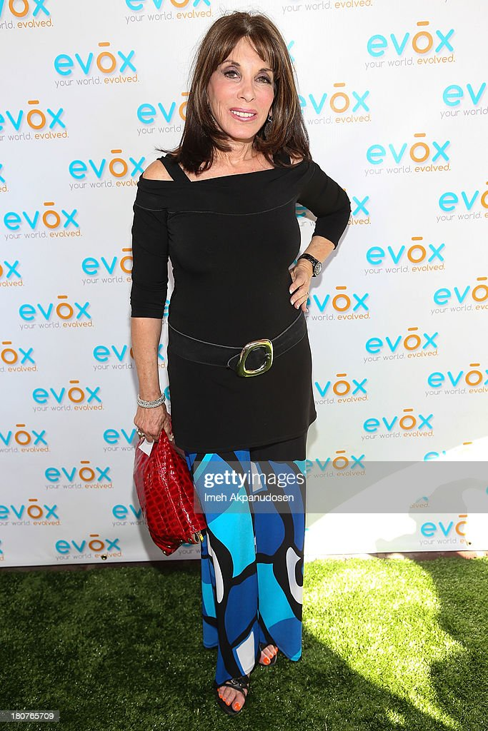Actress <a gi-track='captionPersonalityLinkClicked' href=/galleries/search?phrase=Kate+Linder&family=editorial&specificpeople=213145 ng-click='$event.stopPropagation()'>Kate Linder</a> attends the green carpet launch for the Evox TV debut of Ed Begley's new family show, 'On Begley Street' on September 15, 2013 in Pasadena, California.