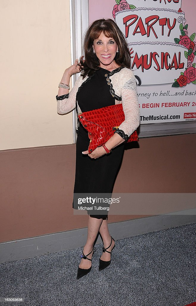 Actress Kate Linder attends the opening night performance of 'Divorce Party - The Musical' at El Portal Theatre on March 3, 2013 in North Hollywood, California.