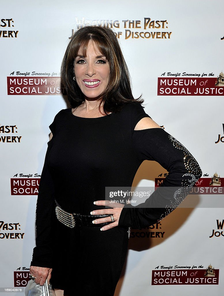 Actress <a gi-track='captionPersonalityLinkClicked' href=/galleries/search?phrase=Kate+Linder&family=editorial&specificpeople=213145 ng-click='$event.stopPropagation()'>Kate Linder</a> attends the screening of 'Weaving The Past: Journey Of Discovery' at the Linwood Dunn Theater at the Pickford Center for Motion Study on May 18, 2013 in Hollywood, California.