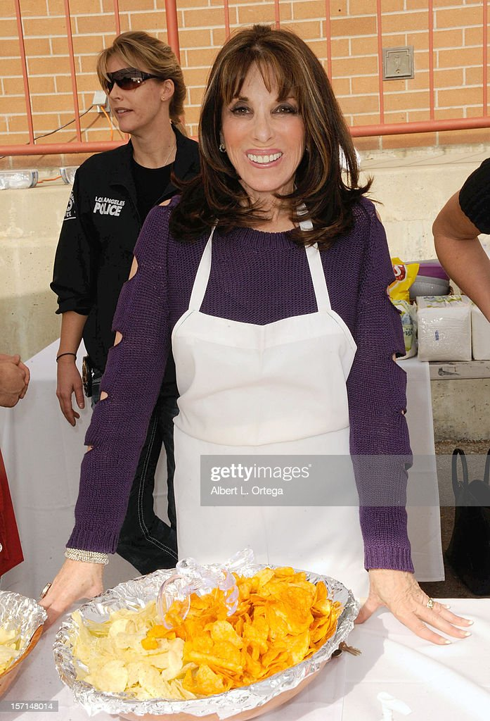 Actress Kate Linder participates in the Hollywood Chamber of Commerce's annual police and firefighters appreciation day at the Hollywood LAPD station on November 28, 2012 in Hollywood, California.
