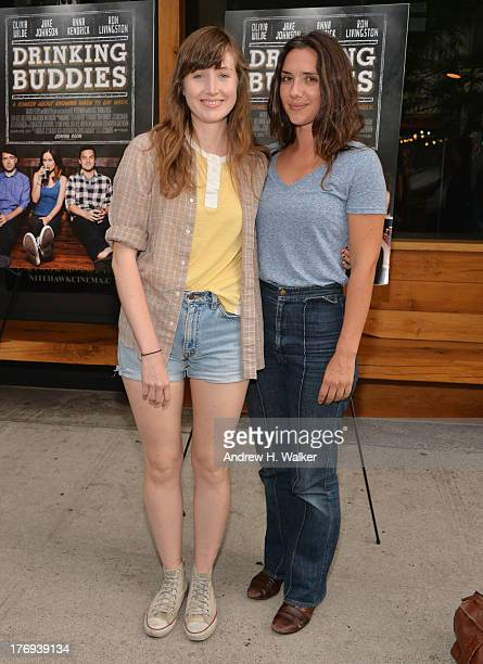 Actress Kate Lyn Sheil and guest attend the 'Drinking Buddies' screening at Nitehawk Cinema on August 19 2013 in the Brooklyn borough of New York City