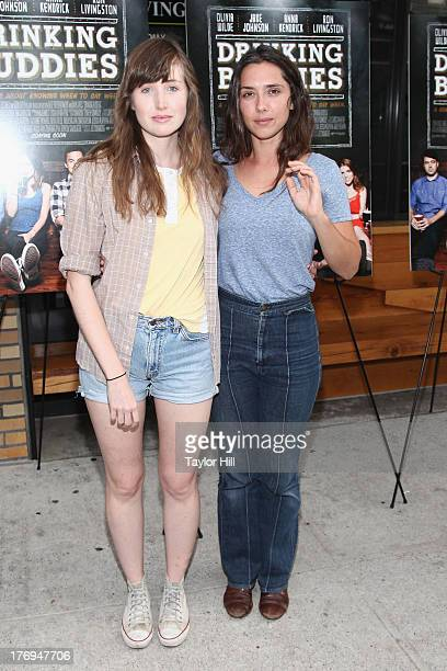 Actress Kate Lyn Sheil attends the 'Drinking Buddies' screening at Nitehawk Cinema on August 19 2013 in the Brooklyn borough of New York City