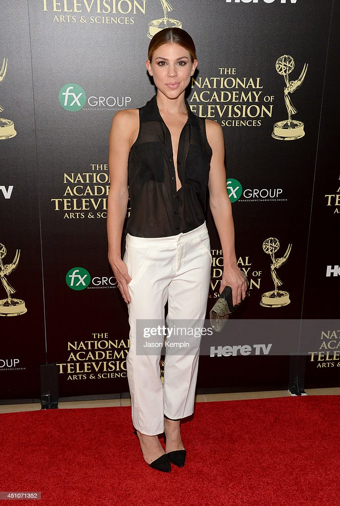 Actress <a gi-track='captionPersonalityLinkClicked' href=/galleries/search?phrase=Kate+Mansi&family=editorial&specificpeople=7511300 ng-click='$event.stopPropagation()'>Kate Mansi</a> attends The 41st Annual Daytime Emmy Awards at The Beverly Hilton Hotel on June 22, 2014 in Beverly Hills, California.