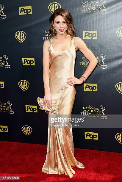Actress Kate Mansi attends The 42nd Annual Daytime Emmy Awards at Warner Bros Studios on April 26 2015 in Burbank California