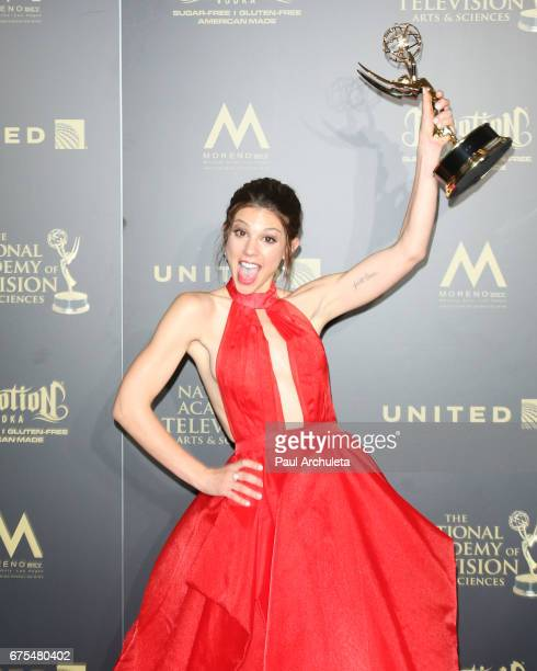 Actress Kate Mansi attends the press room for the 44th annual Daytime Emmy Awards at Pasadena Civic Auditorium on April 30 2017 in Pasadena California
