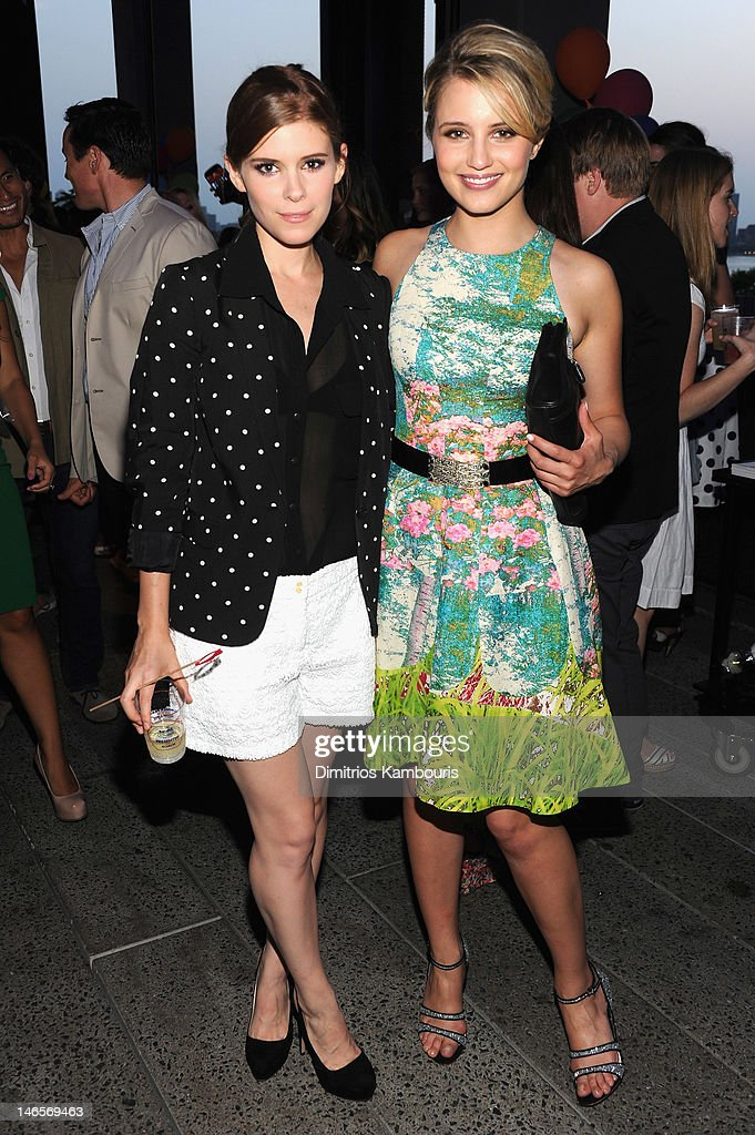 Actress <a gi-track='captionPersonalityLinkClicked' href=/galleries/search?phrase=Kate+Mara&family=editorial&specificpeople=544680 ng-click='$event.stopPropagation()'>Kate Mara</a> and <a gi-track='captionPersonalityLinkClicked' href=/galleries/search?phrase=Dianna+Agron&family=editorial&specificpeople=4439685 ng-click='$event.stopPropagation()'>Dianna Agron</a> attend the Summer Party on the HIGH LINE, Presented by COACH at The Highline on June 19, 2012 in New York City.