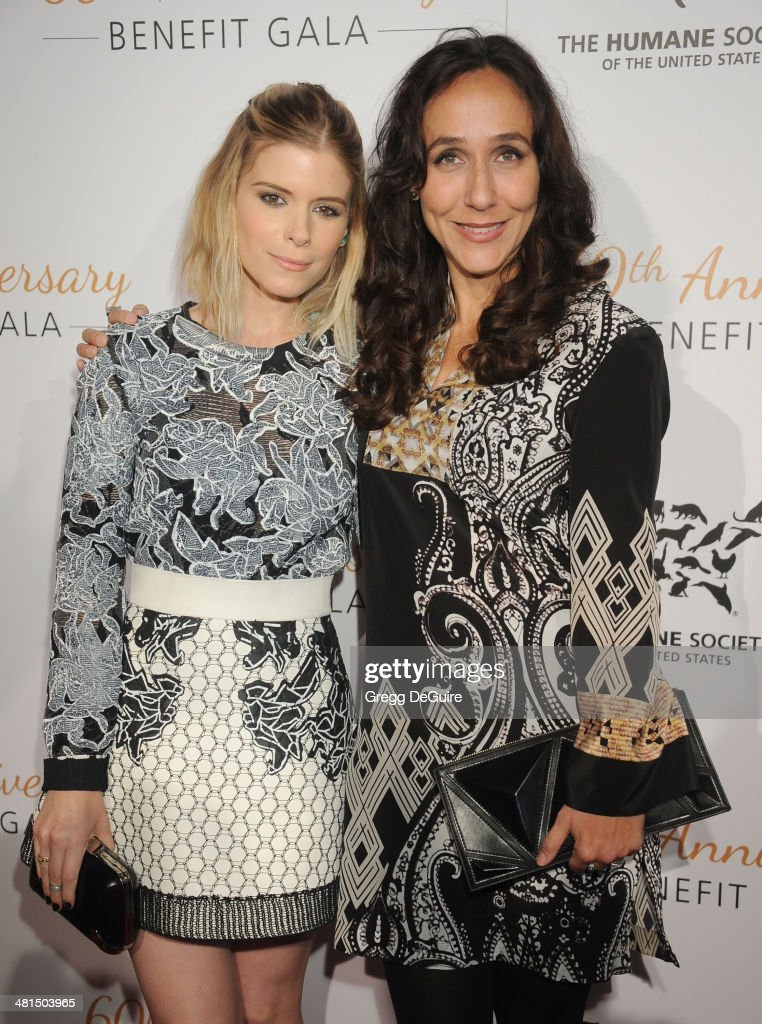 Actress Kate Mara and director Gabriela Cowperthwaite arrive at The Humane Society Of The United States 60th anniversary benefit gala at The Beverly Hilton Hotel on March 29, 2014 in Beverly Hills, California.