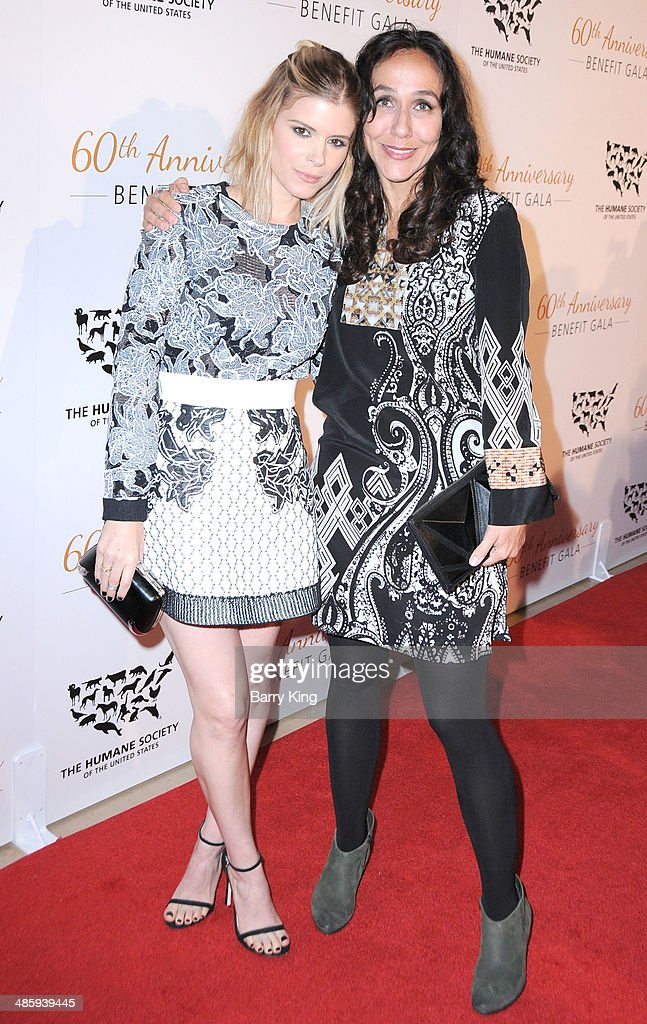 Actress <a gi-track='captionPersonalityLinkClicked' href=/galleries/search?phrase=Kate+Mara&family=editorial&specificpeople=544680 ng-click='$event.stopPropagation()'>Kate Mara</a> and director/honoree <a gi-track='captionPersonalityLinkClicked' href=/galleries/search?phrase=Gabriela+Cowperthwaite&family=editorial&specificpeople=10127120 ng-click='$event.stopPropagation()'>Gabriela Cowperthwaite</a> attend the Humane Society Of The United States 60th Anniversary Benefit Gala on March 29, 2014 at The Beverly Hilton Hotel in Beverly Hills, California.