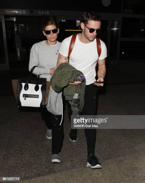 Actress Kate Mara and Jamie Bell are seen on October 13 2017 in Los Angeles California