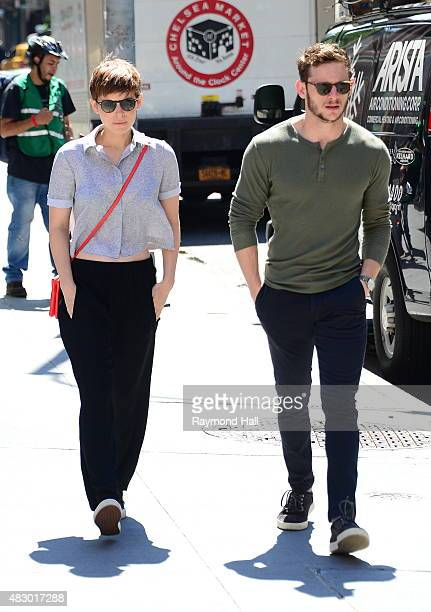Actress Kate Mara and Jamie Bell are seen walking in Soho on August 5 2015 in New York City