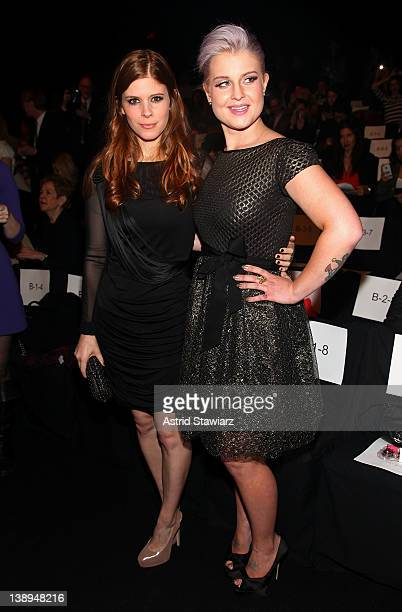 Actress Kate Mara and Kelly Osbourne attend the Badgley Mischka Fall 2012 fashion show during MercedesBenz Fashion Week at The Theatre at Lincoln...