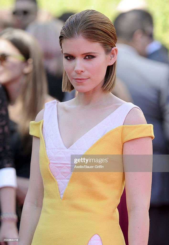 Actress Kate Mara arrives at the 2014 Creative Arts Emmy Awards at Nokia Theatre LA Live on August 16 2014 in Los Angeles California