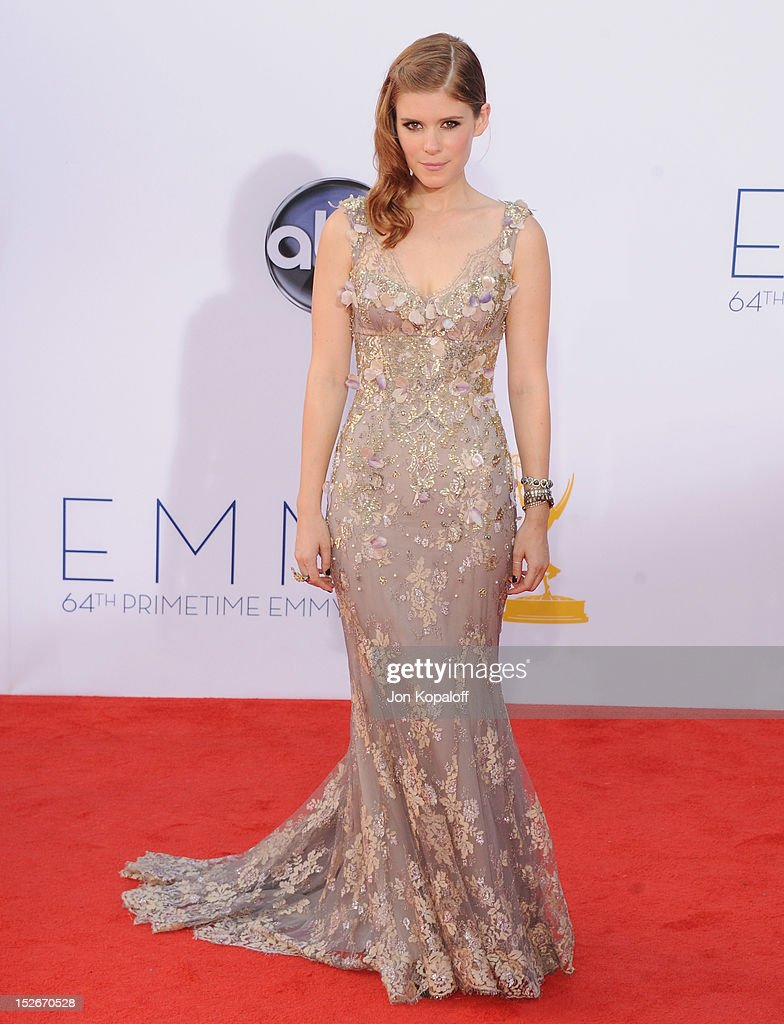 Actress Kate Mara arrives at the 64th Primetime Emmy Awards at Nokia Theatre L.A. Live on September 23, 2012 in Los Angeles, California.