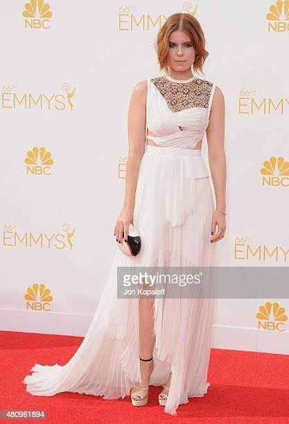 Actress Kate Mara arrives at the 66th Annual Primetime Emmy Awards at Nokia Theatre LA Live on August 25 2014 in Los Angeles California