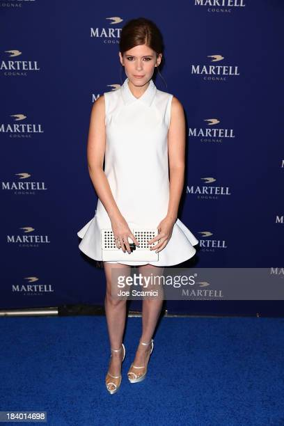 Actress Kate Mara arrives at the launch celebration for Martell Caractere Cognac at The Paramour Mansion on October 10 2013 in Los Angeles California