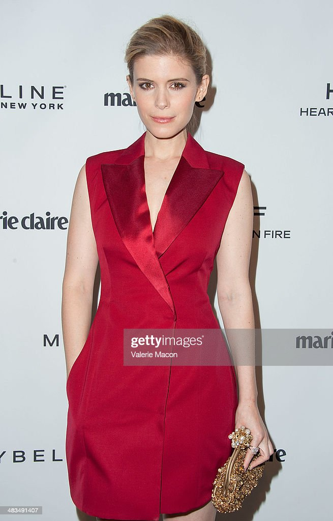 Actress <a gi-track='captionPersonalityLinkClicked' href=/galleries/search?phrase=Kate+Mara&family=editorial&specificpeople=544680 ng-click='$event.stopPropagation()'>Kate Mara</a> arrives at the Marie Claire's Fresh Faces Party at Soho House on April 8, 2014 in West Hollywood, California.