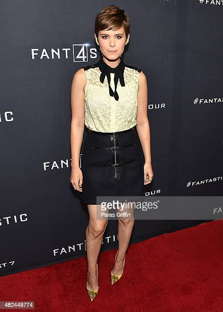 Actress Kate Mara attends 'Fantastic Four' Atlanta VIP screening at Cinebistro on July 30 2015 in Atlanta Georgia