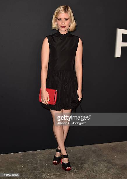 Actress Kate Mara attends Prada Presents 'Past Forward' by David O Russell premiere at Hauser Wirth Schimmel on November 15 2016 in Los Angeles...
