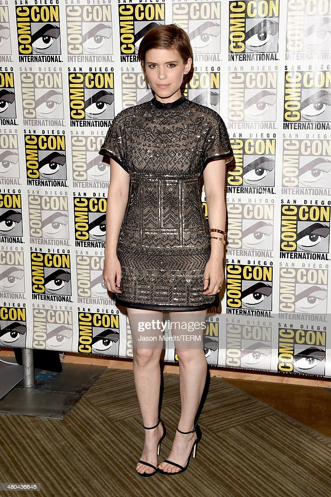 Actress <a gi-track='captionPersonalityLinkClicked' href=/galleries/search?phrase=Kate+Mara&family=editorial&specificpeople=544680 ng-click='$event.stopPropagation()'>Kate Mara</a> attends the 20th Century Fox press room during Comic-Con International 2015 at the Hilton Bayfront on July 11, 2015 in San Diego, California.
