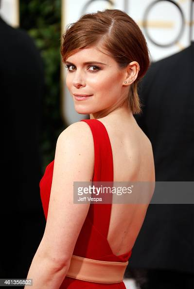 Actress Kate Mara attends the 72nd Annual Golden Globe Awards at The Beverly Hilton Hotel on January 11 2015 in Beverly Hills California